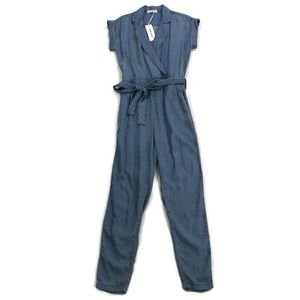 NWT Etienne Marcel Blue Chambray Collared Jumpsuit